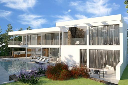 Fantastisches Neubau-Projekt einer Luxusvilla in Santa Ponsa