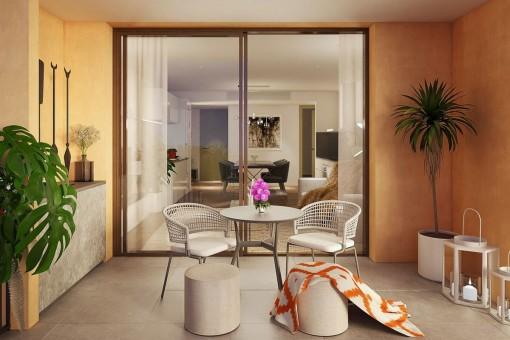 Hochwertige Neubauwohnungen in der ersten Etage eines Mehrfamilienhauses in Santanyí
