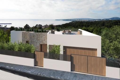 Grundstück mit Lizenz und Projekt für den Bau eines Einfamilienhauses in Costa d'en Blanes