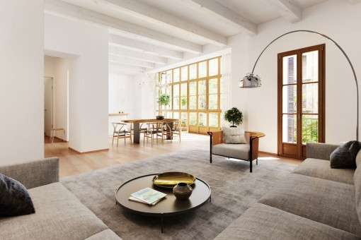 Wohnung im ersten Stockwerk mit privater Dachterrasse in Palma