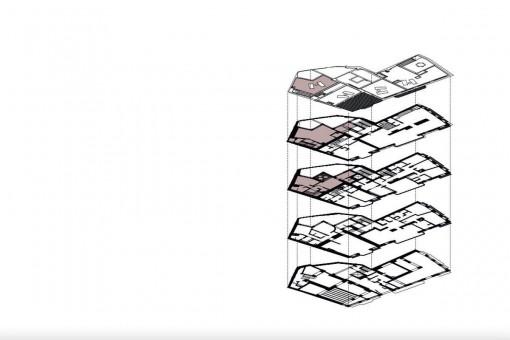 Bauzeichnung des Neubauprojekts