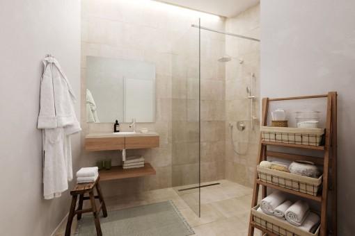 Es gibt 2 Badezimmer en Suite