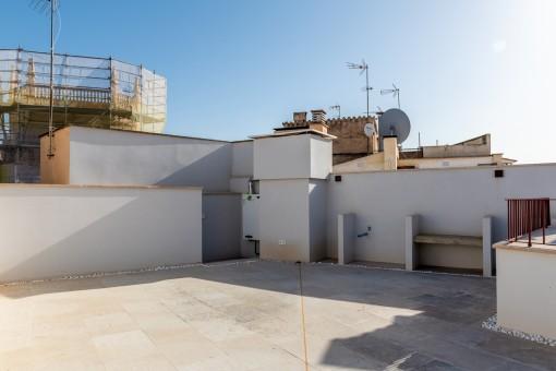 Ansicht der Terrasse