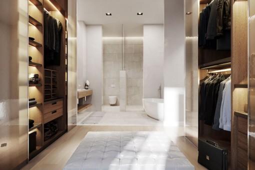 Ankleidezimmer mit Badezimmer en Suite