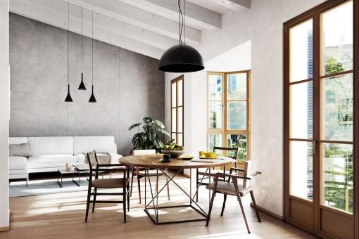 Luxuriöses Neubau Apartment an einem historischen Platz in der Altstadt von Palma mit sonniger Dachterrasse