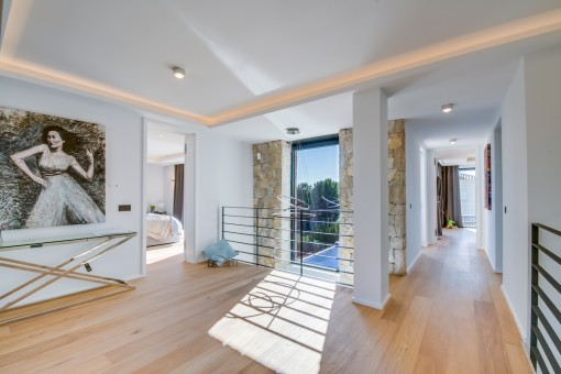 Stylisches Obergeschoss