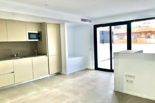 Wohnbereich/ Küche