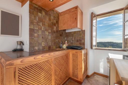 Kleine Küche im Untergeschoss