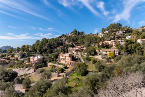 Blick über das Dorf Galilea