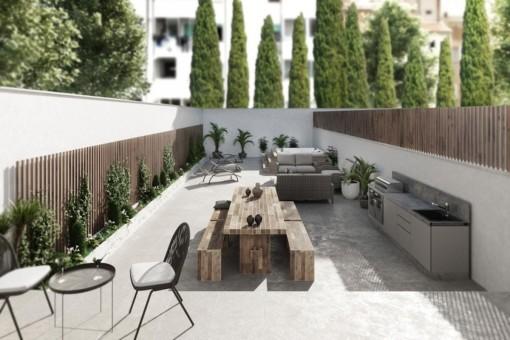 3-SZ Apartment im ersten Stockwerk eines attraktiven Neubauprojekts mit 9 Wohneinheiten in Palma