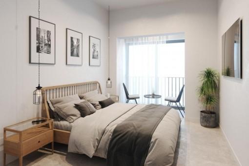 Hauptschlafzimmer der Wohnung