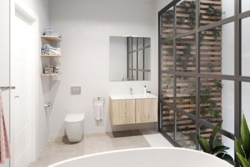 Badezimmer mit moderner Dusche