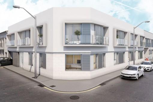 Erdgeschoss-Wohnung in einem neu gebauten Gebäude im modernen Stil in Palma