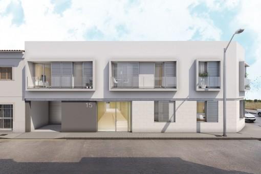 Duplex Wohnung in einem Neubaugebäude im modernen Stil in Palma