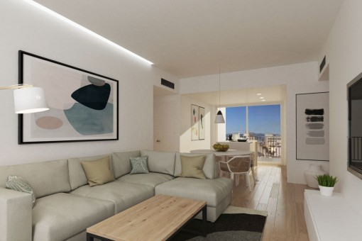 Wohnung im ersten Stockwerk eines Neubaugebäudes in Es Coll d' en Rabassa