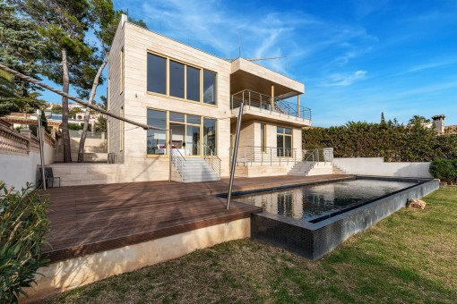 Moderne Villa mit verlockendem Meerblick in Santa Ponsa