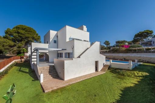 Fantastische Villa mit Meerblick von der Dachterrasse in Portopetro