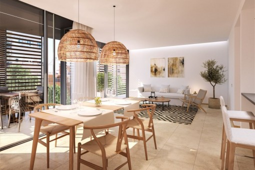 Modernes 3-SZ Neubauapartment in exzellenter Lage nahe dem Meer und dem Stadtzentrum in Palma