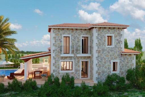 Schöne Familienvilla zur individuellen Fertigstellung in unmittelbarer Umgebung internationaler Schulen im direkten Umland von Palma