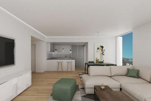 Neubauwohnung mit Terrasse im ersten Stockwerk in Son Espanyolet, Palma