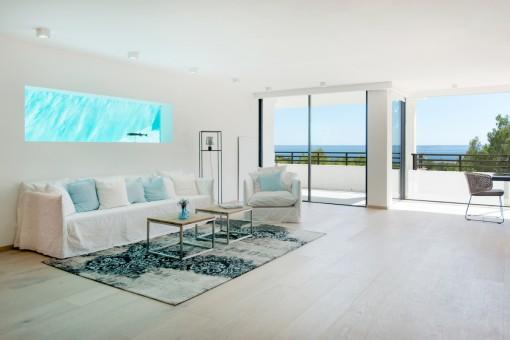 Luxus-Penthouse mit Meerblick und privatem Pool in der schönen Gegend von Cas Catalá