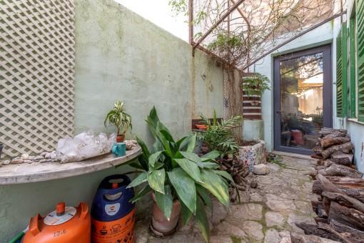 Patio mit Zugang vom Wohnbereich
