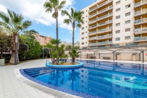 Tolles Apartment mit Gemeinschaftspool und Garage in einer begehrten und ruhigen Gegend von Palma