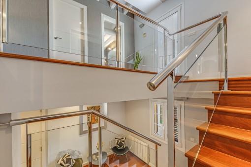 Eleganter Treppenaufgange