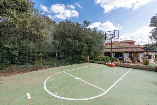 Baskettballplatz