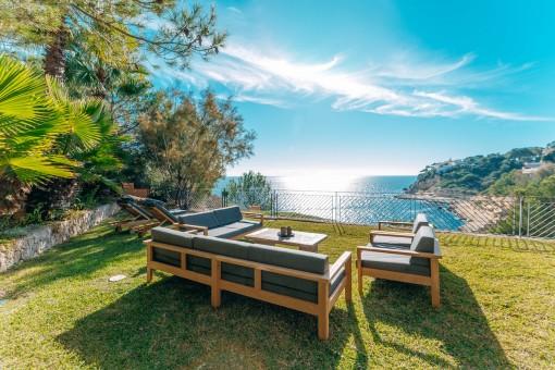 Modernes Erdgeschossapartment mit faszinierendem Meerblick in Sol de Mallorca
