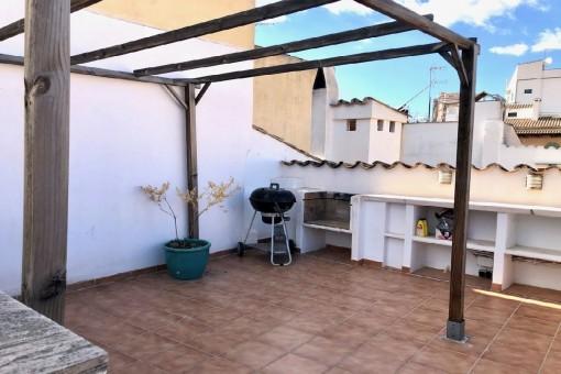 Dachgeschosswohnung mit großer Terrasse in der Altstadt von Palma