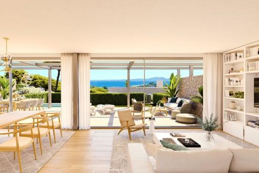 Moderne Neubauvilla in einer exklusiven Wohnanlage in Cala Vinyes