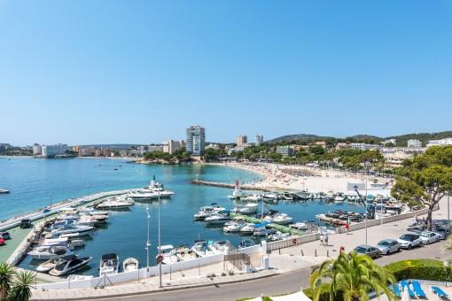 Fantastischer Blick über den Strand in Palmanova