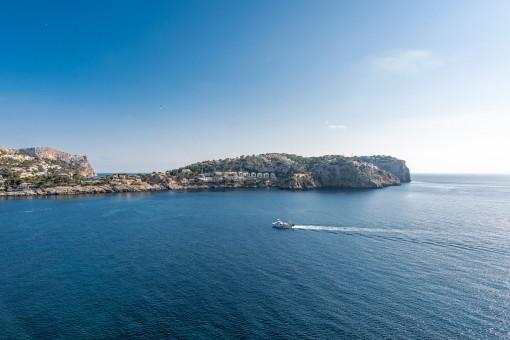 Offener Panoramablick aufs Meer