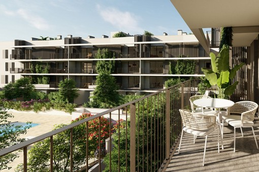 Modernes 3 SZ Neubau Apartment mit Terrasse mit Südausrichtung in Son Güells, Palma
