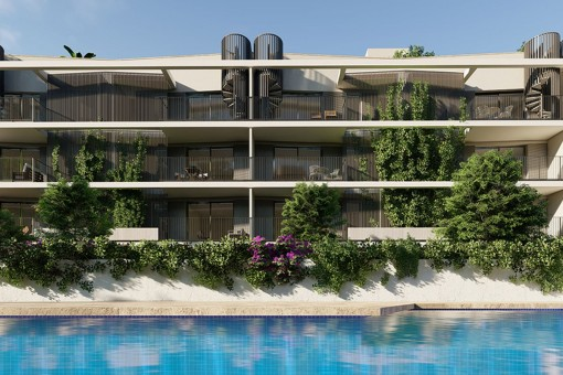 Modernes 2 SZ Neubau Erdgeschoss Apartment mit großer Terrasse mit Südausrichtung in Son Güells, Palma
