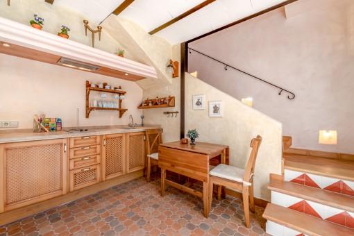 Kleine Küche des Gästehauses
