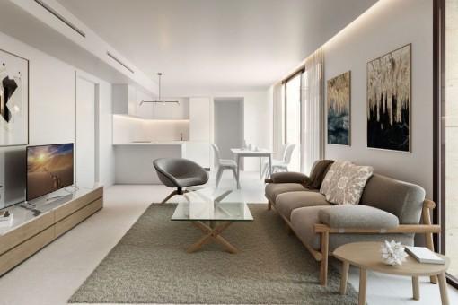 Wohn- und Essbereich - Light