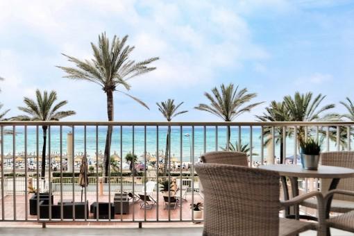 Strandwohnung mit 2 Einheiten und Meerblick an der Playa de Palma