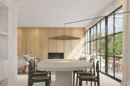Große Panoramafenster im Wohnbereich