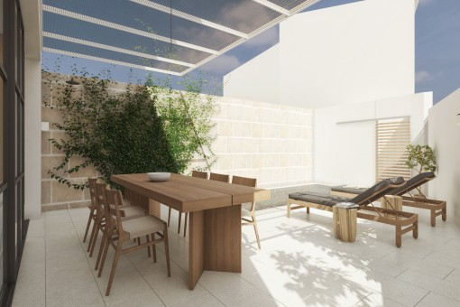 Wundervolles Stadthaus mit privatem Garten in Ses Salines