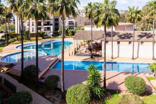 Prächtige Wohnung in einer Luxusgemeinde vor dem Golfplatz Santa Ponsa