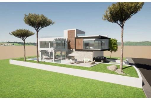 Neubau-Designervilla direkt am Meer und Yachthafen in Son Veri Nou