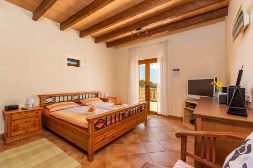 Doppelschlafzimmer mit Terrassse