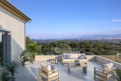 Grundstück mit Baugenehmigung und freiem Blick auf Palma in S´Aranjassa