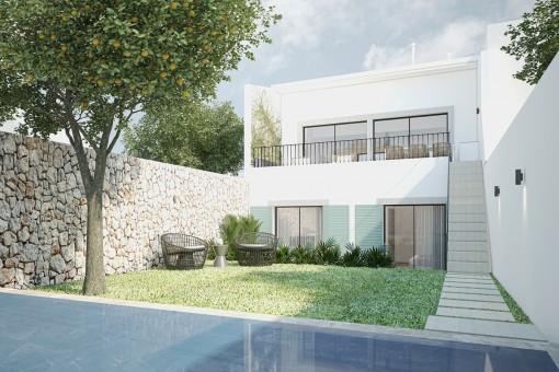 Modernes Stadthaus mit Pool und Garten in Son Espanyolet