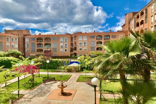 Möbliertes Apartment mit Gaszentralheizung, Tiefgaragenstellplatz und Gemeinschaftspool in Palma