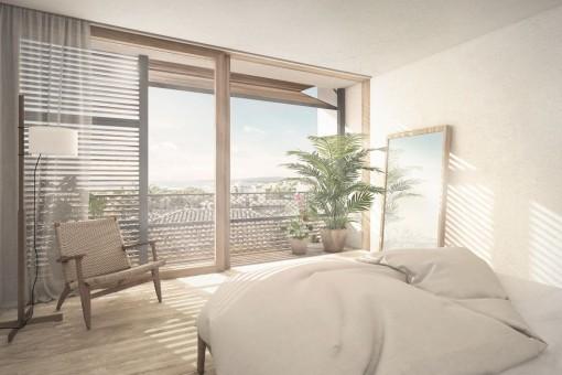 Geräumiges Doppelschlafzimmer mit Badezimmer en Suite