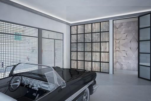 Große, geräumige Garage