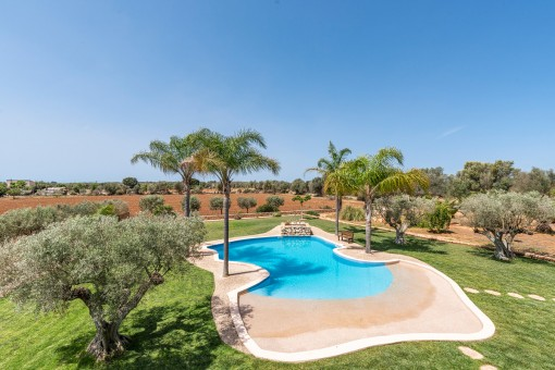 Ausblick über den Pool